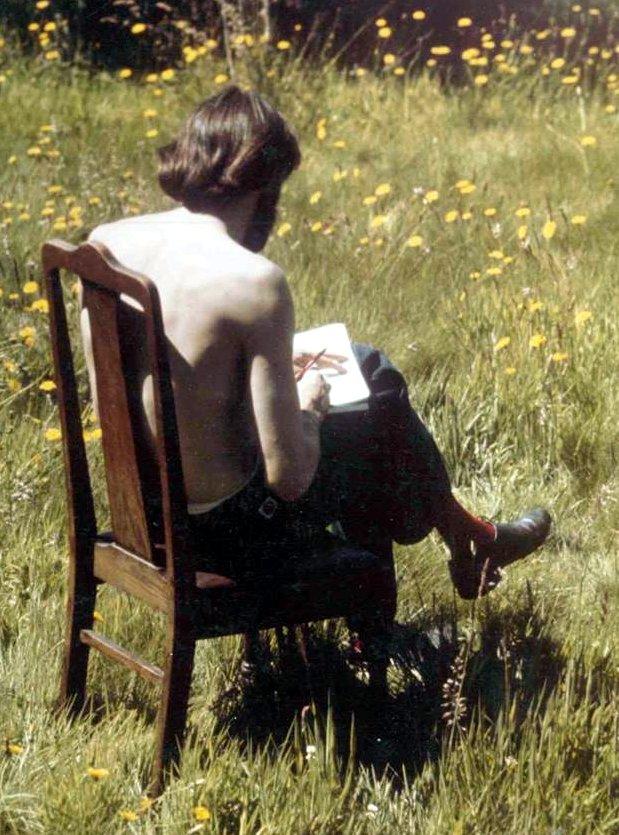 Louis in Bamfield 1972